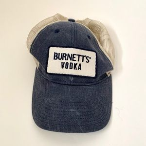Brunettes Vodka blue and white mesh trucker hat